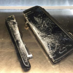 Paper Cutter Safety - Smartphone cut in half by a guillotine blade